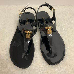 NWOT-Michael Kors Lock Charm Mira Sandals (Size 7)